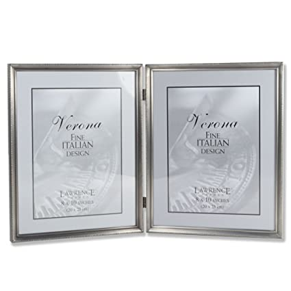 Amazon Lawrence Frames Antique Pewter 8x10 Hinged Double