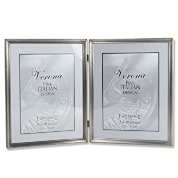 Amazoncom Lawrence Frames Antique Pewter 8x10 Hinged Double