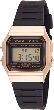 Relógio Masculino Casio Digital Vintage F-91WM-9ADF - Dourado