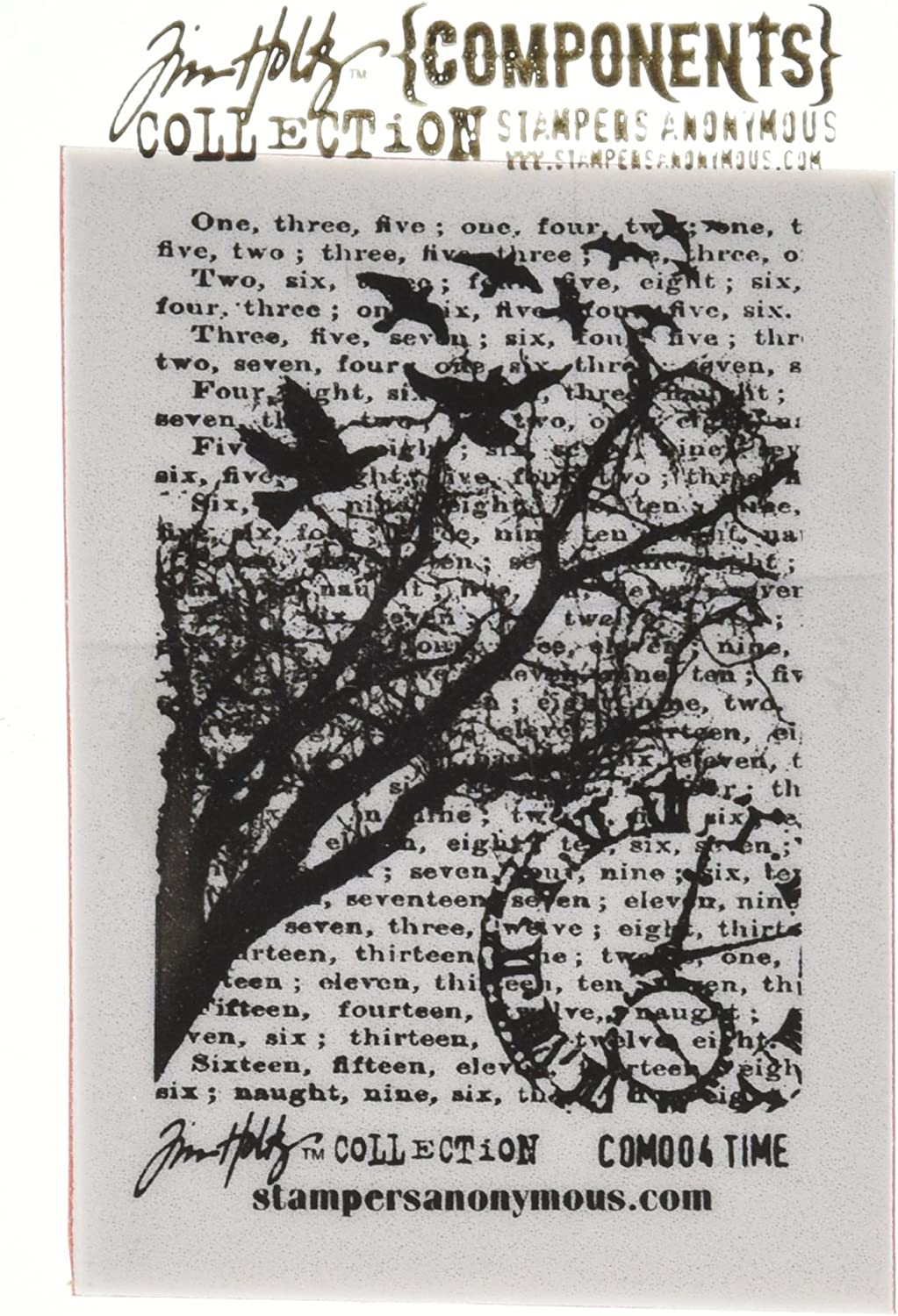 """Tim Holtz Cling Stamp 2.5/""""X3.5/""""-Time"""