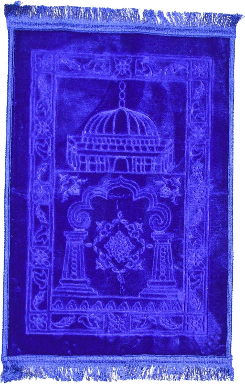 waschbar betend Gebetsmatte mit Stickmuster f/ür islamische muslimische Erwachsene und Kinder 110 x 65 cm Muslimischer Gebetsteppich tragbarer Quasten-Teppich