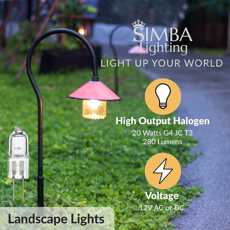 10 Packs 10 Watt 12 Volt Halogen Light Bulbs-G4 Base Bi-Pin 12V 10W T3 JC Lamp