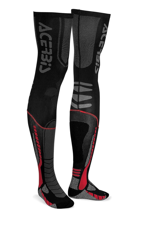 Acerbis 0021693.318.069 x-leg Pro Chaussettes pour Homme, Noir/Jaune Acerbis Italia S.p.a 0021693.313.063