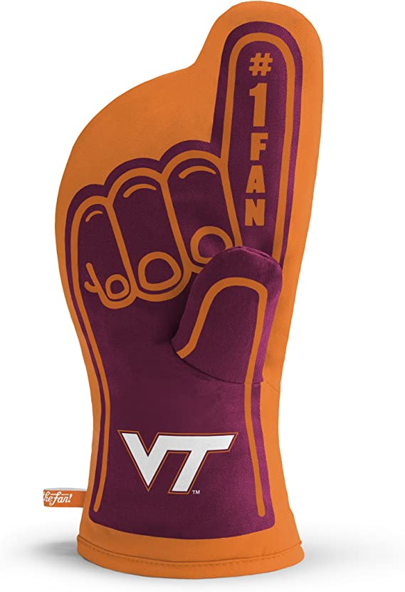 YouTheFan NCAA #1 Oven Mitt:  13.25'' x 6.5'' Heat Resistant 100% Quilted Cotton Team Oven Mitt