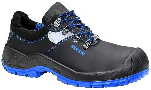 Sicherheitsschuhe ELTEN MAVERICK Schwarz Low ESD S3, Herren, sportlich, Sneaker, leicht, schwarz, Stahlkappe, 41 EU