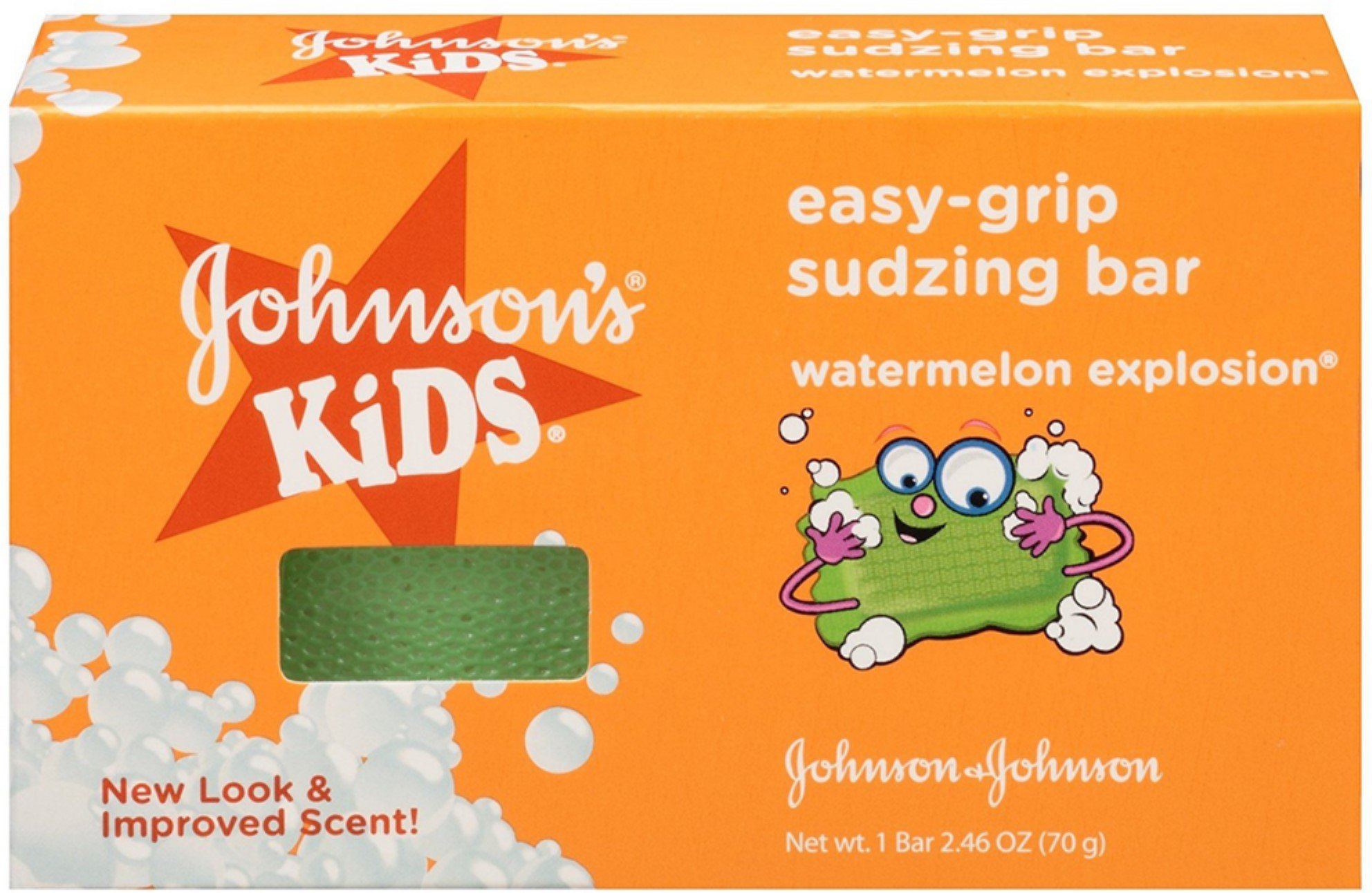 JOHNSON'S Kids Easy-grip Sudzing Bar Watermelon Explosion 2.46 oz (7 Pack)