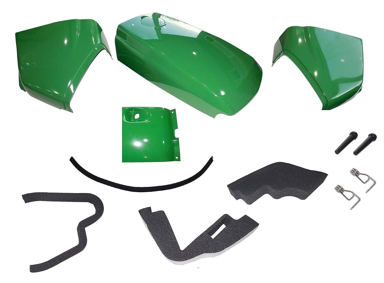 Upper Hood//Fuel Door Kit//Mounting Seal//Stickers Kit fits John Deere 4210 UP S//N
