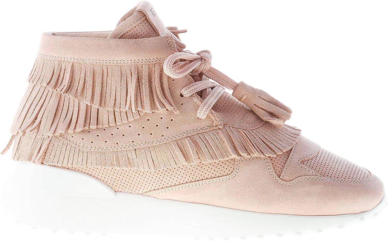 Women Shoes Pink Suede high-top Sneaker