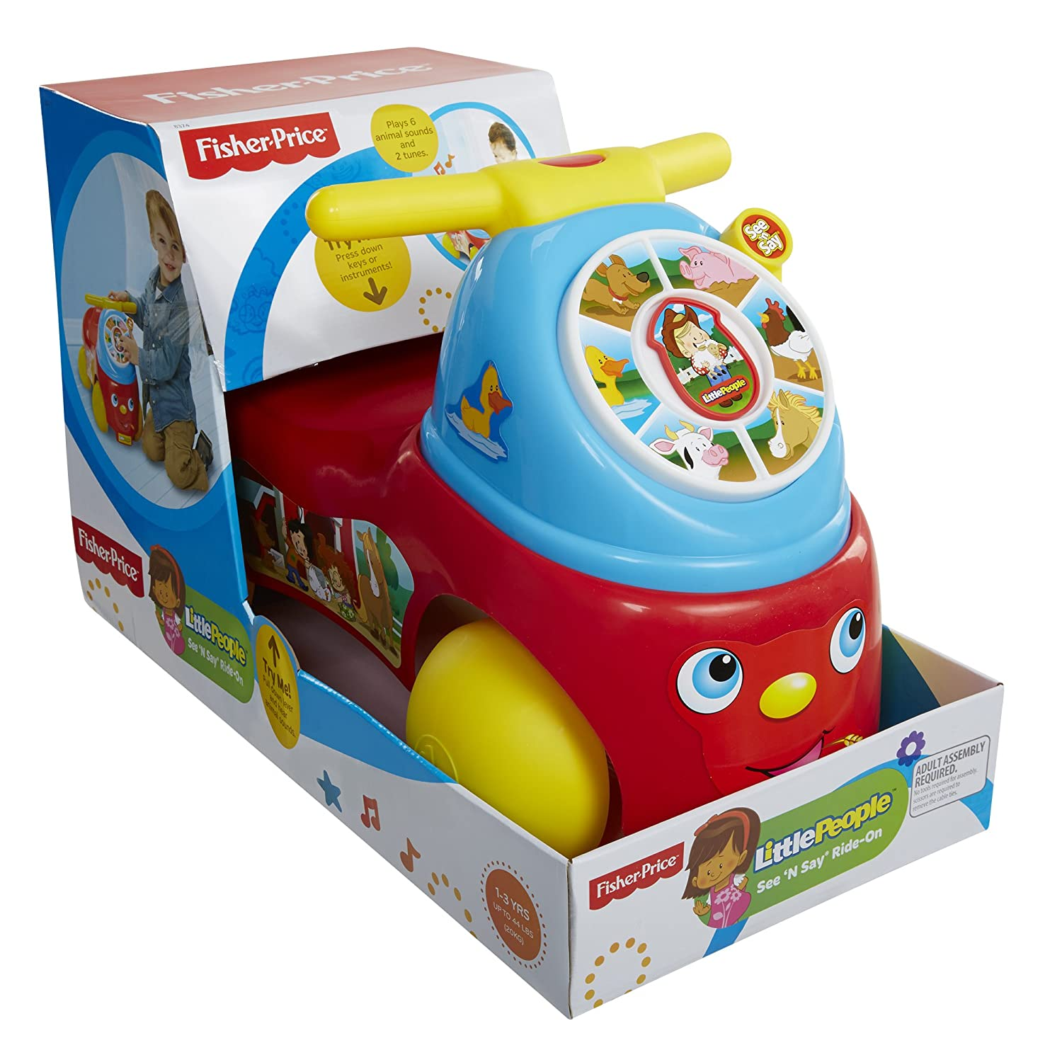 Fisher-Price Little People Fire Truck Ride On Moose Mountain Domestic 8313