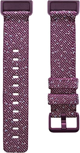 Fitbit Charge 4 Accessory Band, Official Fitbit Product, Woven, Rosewood, Large