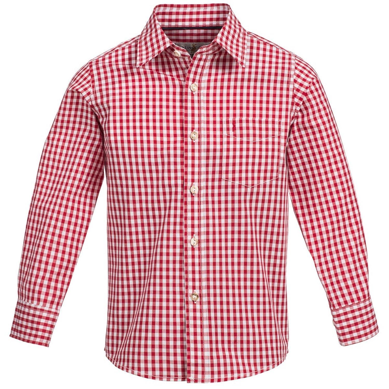 Trachtenhemd für Kinder in Rot von Almsach