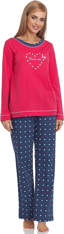 Cornette Pijama Conjunto Camiseta y Pantalones Mujer 679 2016