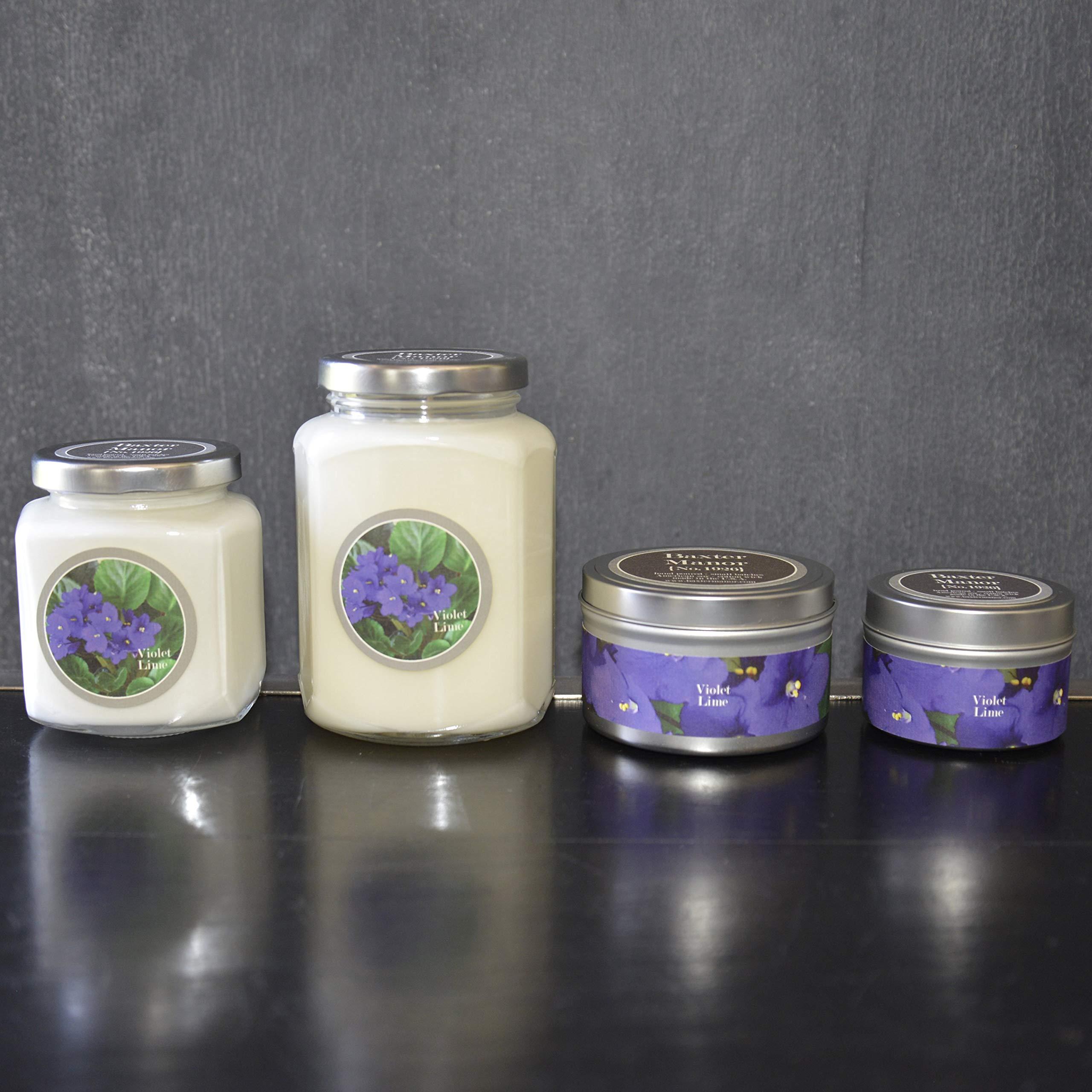 BAXTER MANOR Candle, Violet Lime, 8 oz