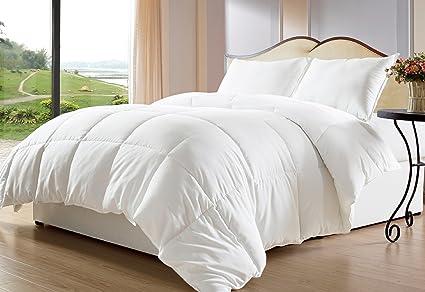 Amazon.com: Bed-in-a-Bag White Down Alternative Comforter/Duvet ...