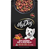 MY DOG Gourmet Beef Dry Dog Food 1.5kg Bag, 4 Pack, Adult, Small/Medium