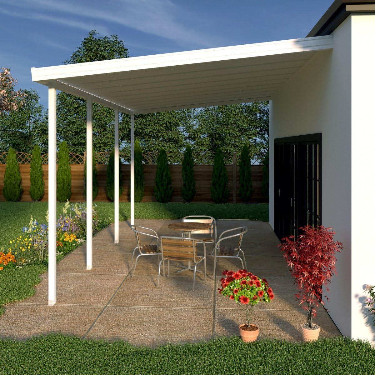 Heritage Patios - Cubierta de Aluminio para Patio (4 Postes / 20 Libras de Carga en el Techo): Amazon.es: Jardín