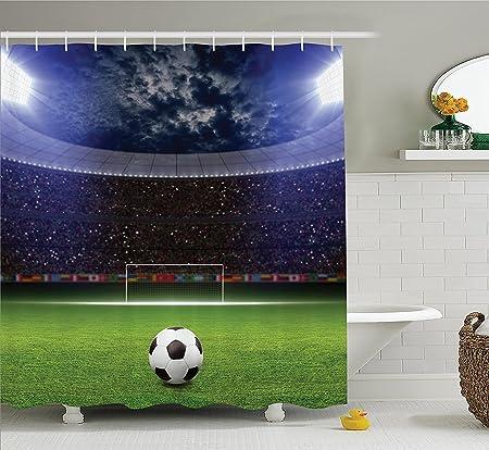fhddk Sports Decor Collection, balón de fútbol en campo de fútbol ...