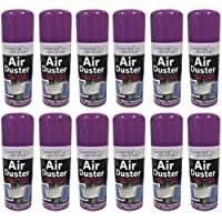 Lazer 12X200ml Compressed Air Duster Spray Can Cleans Protects Laptops Keyboards