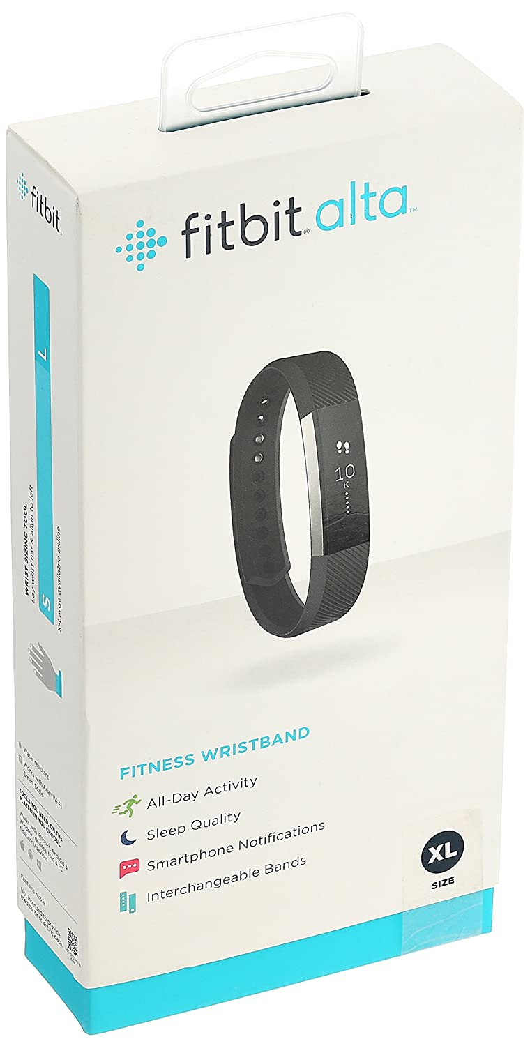 Fitbit Alta Fitness Tracker Black X Large Amazon Electronics