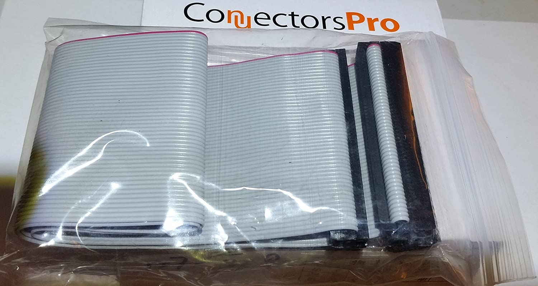 24 SCSI-1 50 Pins Connectors Pro 24 Inches 3 Female Connectors IDC 2x25 50P SCSI Internal Flat Ribbon Cable PC Accessories