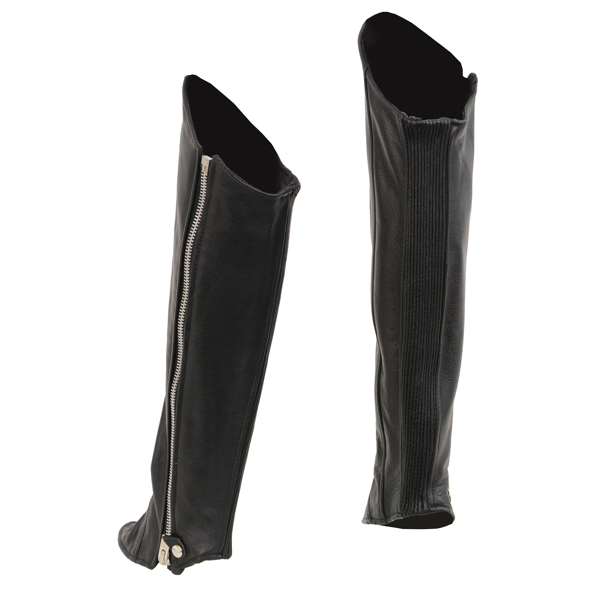 Milwaukee Leather Women's Knee High Half Chaps with Zipper Entry (Black, XX-Large/XXX-Large) by Milwaukee Leather (Image #2)