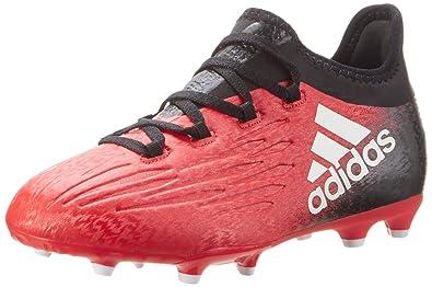 size 40 00fad b348f adidas X 16.1 FG J, Chaussures de Football Formation garçon, Rouge  (Redfootwear Whitecore
