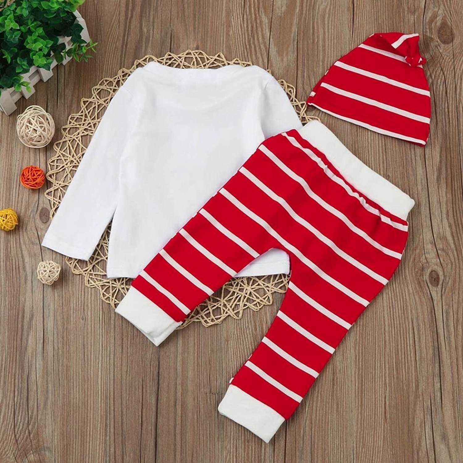 f7b25f547 Kids Clothing Sets,SetMei Newborn Baby Boy Girl Christmas Deer Print Tops+ Pant+Cap Outfits Clothes Set For 0-2 Years old: Amazon.co.uk: Clothing