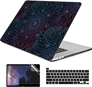 Dongke MacBook Pro 13 inch Case Model A2251/A2289 2020 Released, Plastic Hard Shell Case Cover for MacBook Pro 13 inch with Retina Display & Touch Bar Fits Touch ID (Colorful Mandala)