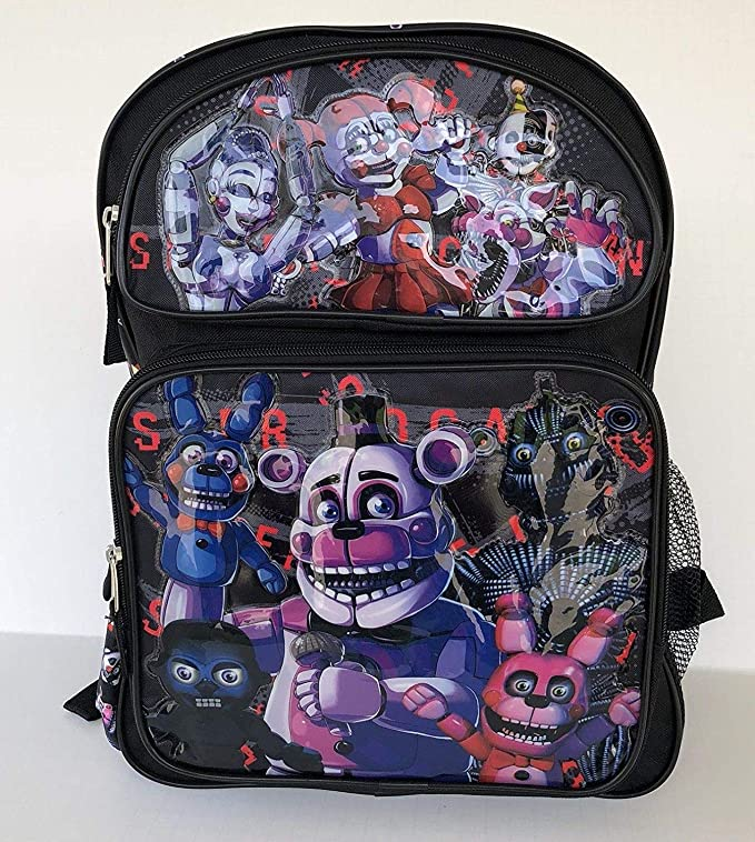 """Five Nights at Freddys Sister Location 16"""" Standard Size Large Backpack"""