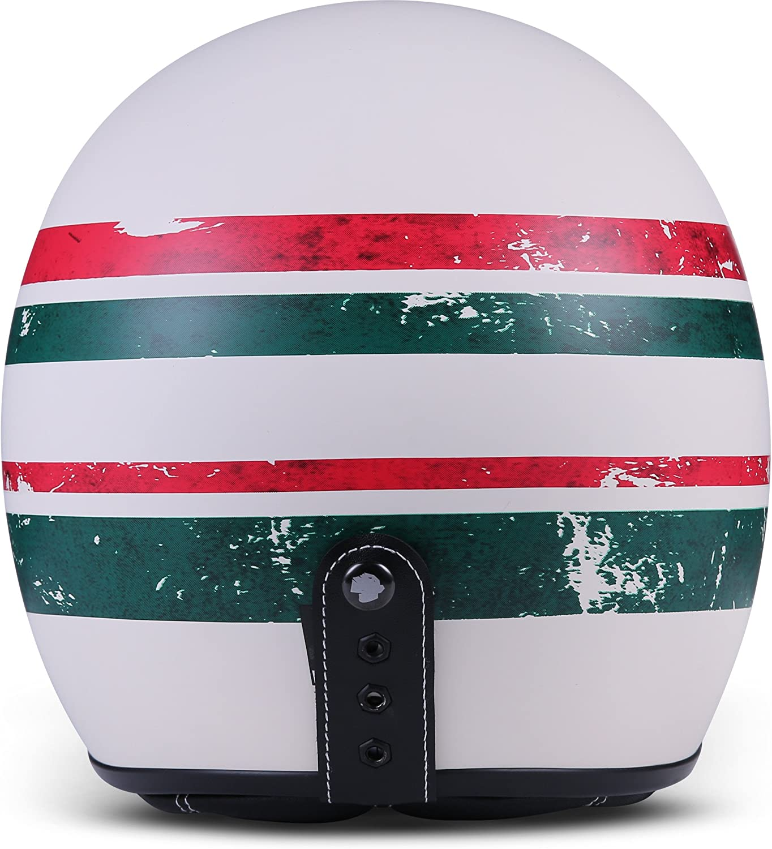 Rebel R9 Motorrad-Helm Roller-Helm ECE Fiberglas SlimShell Tasche 53-54cm XS Skeleton