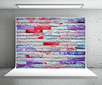 HD 7x5ft The View of The City Backdrop Brick Wall European Architecture Photography Background Themed Party Photo Booth YouTube Backdrop HUIMT460