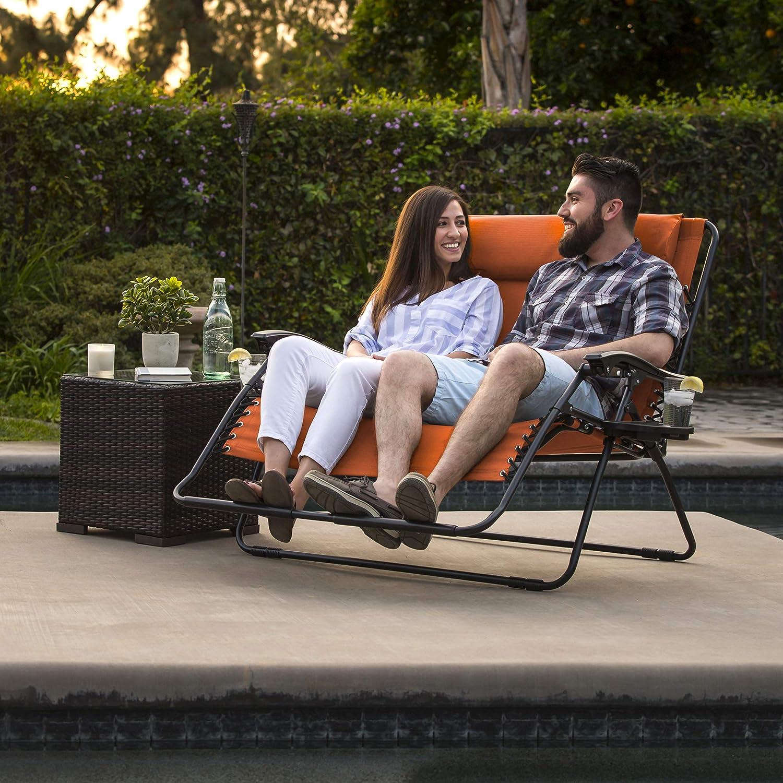 Amazon.com: Silla plegable grande, para 2 personas, de ...