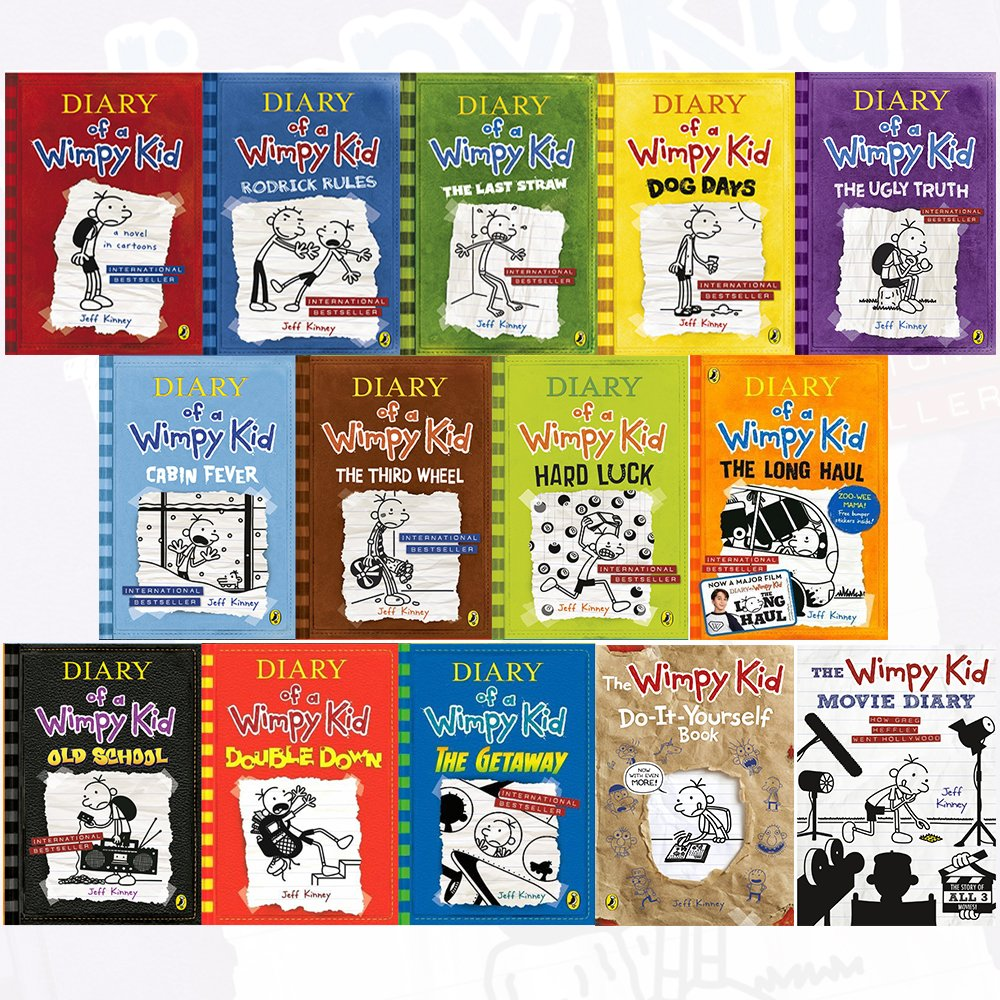 Amazon Com Diary Of A Wimpy Kid Collection 14 Books Set By Jeff Kinney Diary Of A Wimpy Kid Rodrick Rules The Last Straw Dog Days The Ugly Truth Hardcover The Getaway Double Down The Wimpy Kid Movie Diary 9789123622504