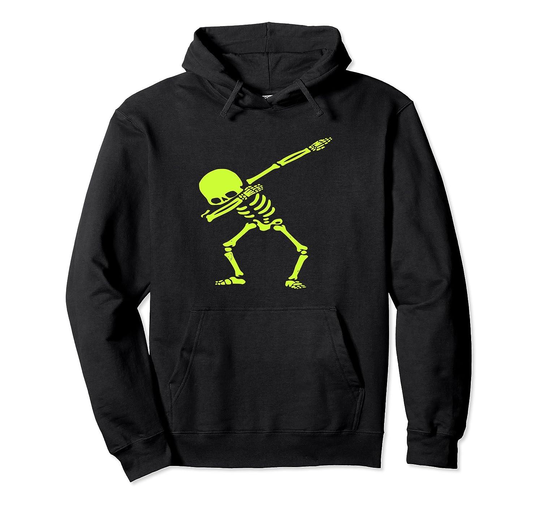 Dabbing Green Skeleton Dab Pose Halloween Costume Hoodie-Rose