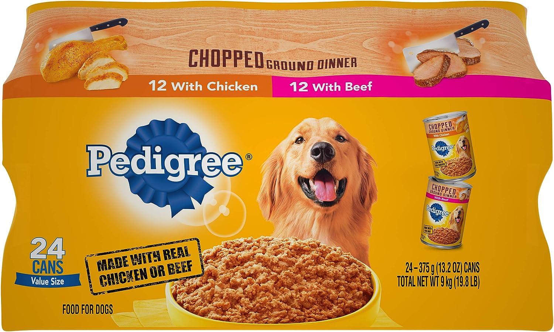 PEDIGREE Chopped Ground Dinner Wet Dog Food, Variety Packs