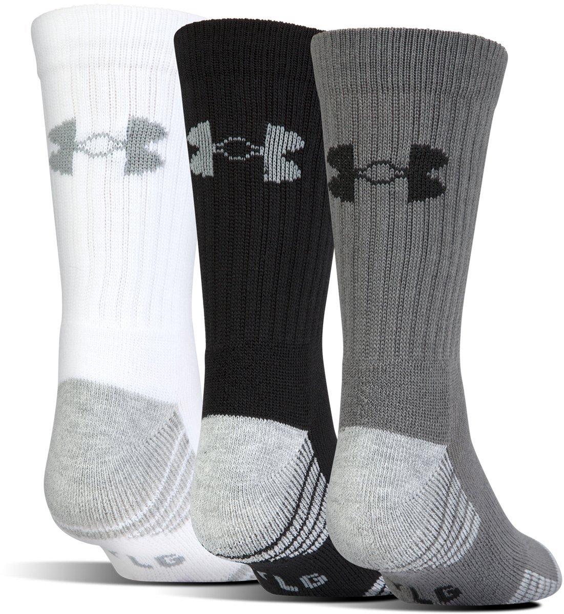Under Armour Men's Heatgear Tech Crew Socks, Graphite Assortment, Large (3 Pair Pack)