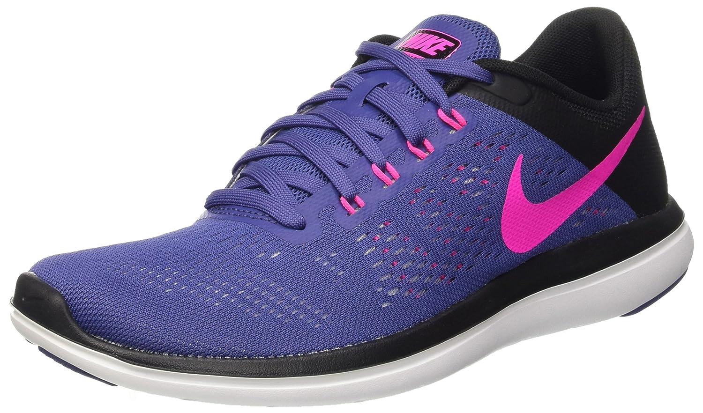 NIKE Women's Flex 2016 Rn Running Shoes B009924XUI 7 B(M) US|Dark Purple Dust/Pink Blast/Black