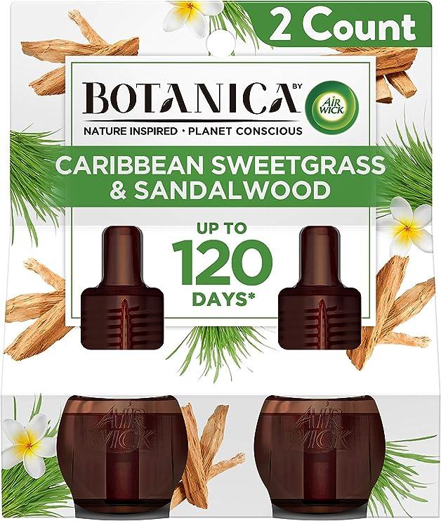 【Air Wick/エアーウィック】 プラグインオイル詰替えリフィル(2個入り) BOTANICA カリビアンスイートグラス&サンダルウッド Air Wick Scented Oil Twin Refill Caribbean Sweetgrass & Sandalwood (2X.67) Oz. [並行輸入品]