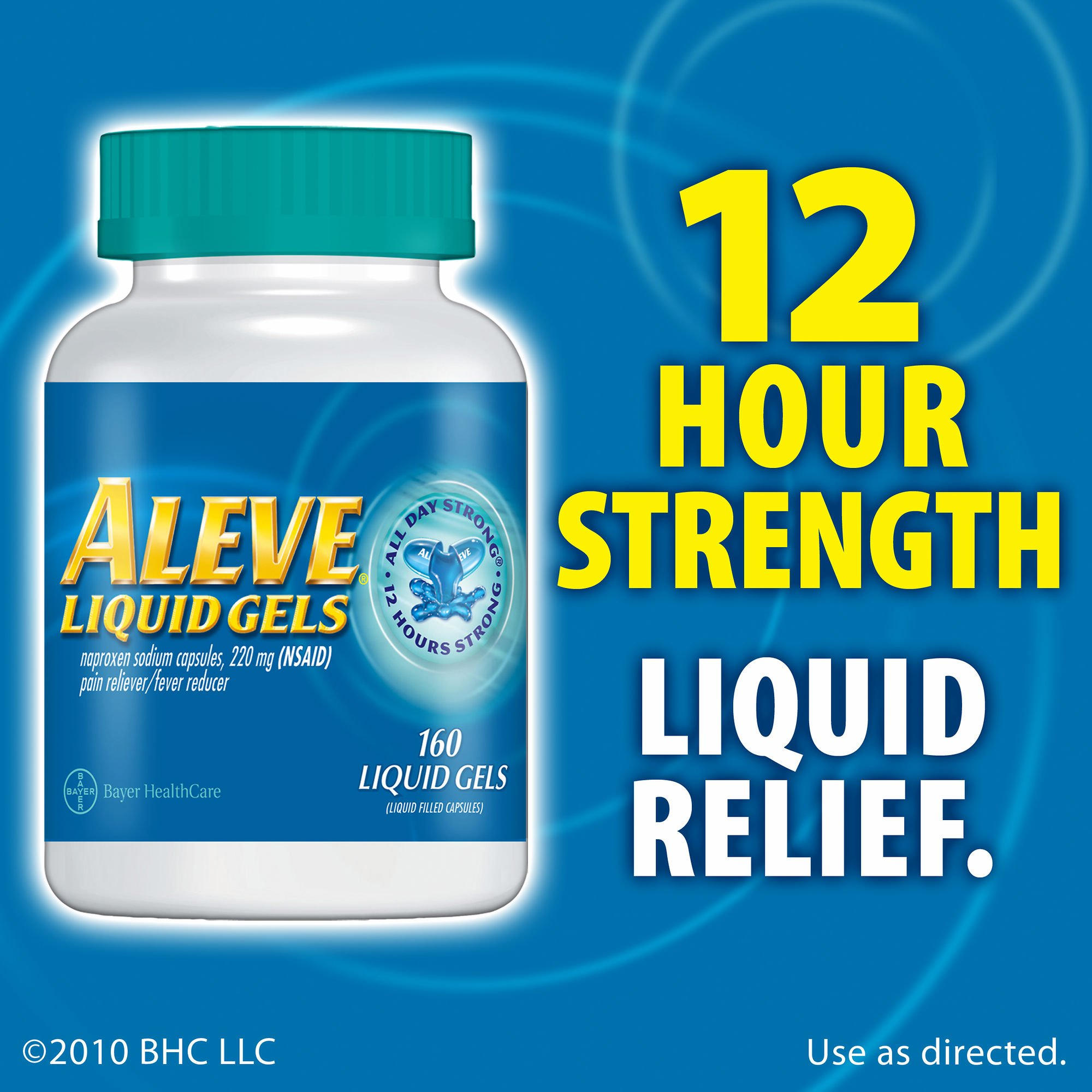 Aleve 220mg Liquid Gel Capsules - 160 ct.