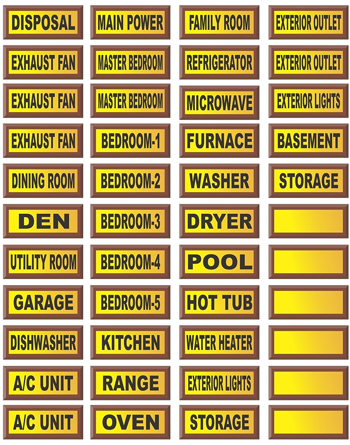 Electrical Circuit Breaker Fuse Box Peel /& Stick Decal Labels The Decal  Shoppe LLC ECB22
