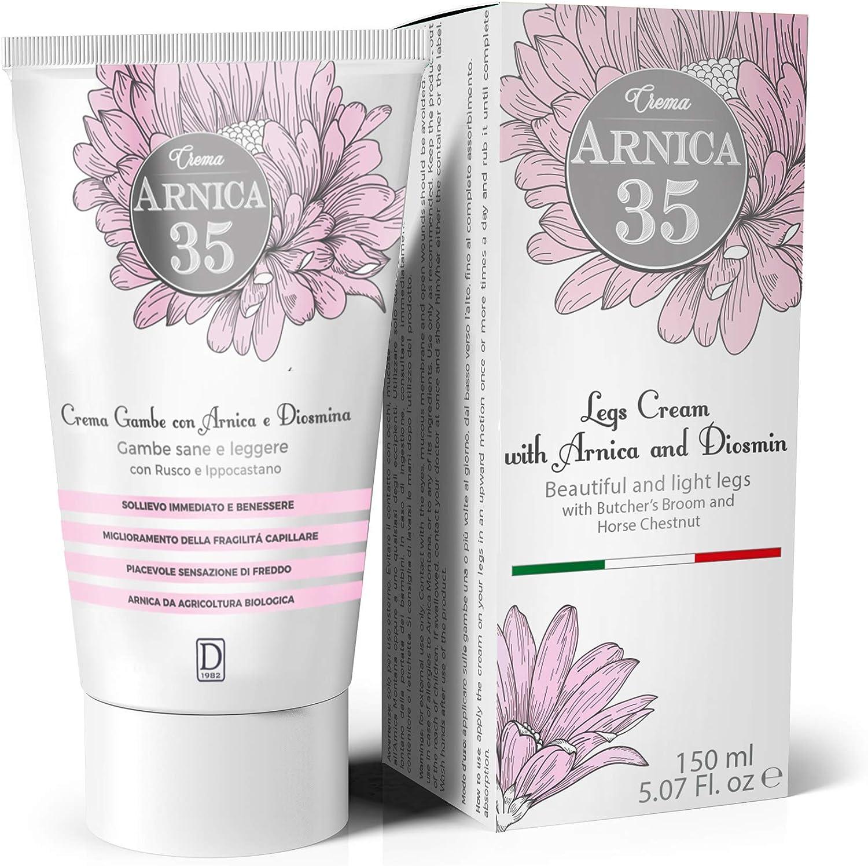 Dulàc - Arnica 35 - Crema para Piernas - Piernas bonitas y ligeras con Àrnica, Diosmina, Rusco y Castaño de Indias - 150 ml
