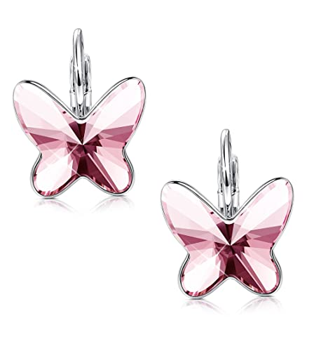 fast delivery most popular quality Sllaiss Butterfly Earrings ♥Anniversary Gifts♥ Hoop Earrings Crystals from  Swarovski,Jewelry for Women Girls with Gift Box