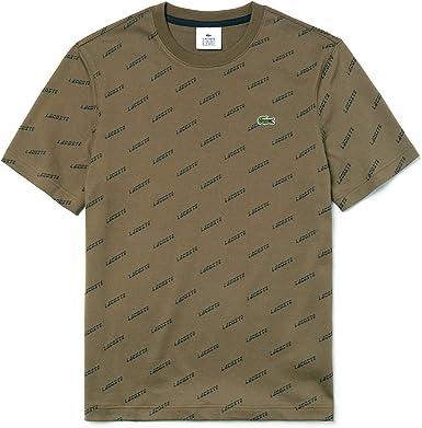 Lacoste - Camiseta - Hombre Khaki Green/Black L: Amazon.es: Ropa y ...