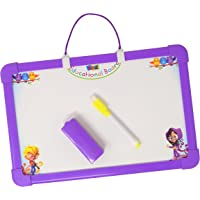 Parteet Educational Two in One Writing Board with White and Black Board for Kids