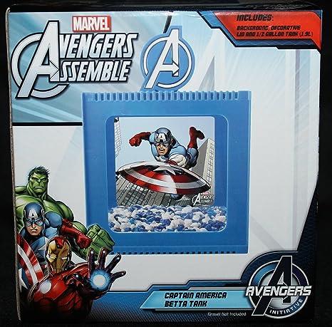 Avengers Betta Tanque de Pecera Rana Habitat Ironman, Capitán América, Hulk, Marvel