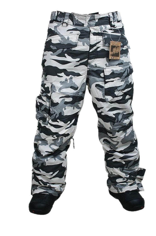 South Play  Herren Camouflage Wasserdicht Ski-Snowboard Light Military Hose