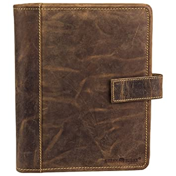 Greenburry Vintage Agenda A5 piel 22 cm marrón: Amazon.es ...