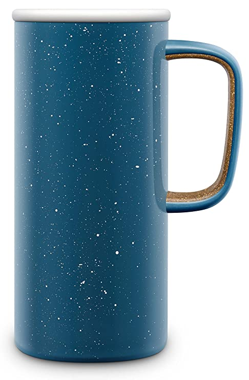 a2bd6205b54 Ello Campy Vacuum-Insulated Stainless Steel Travel Mug, Sun Bleached  Turquoise, 18 oz