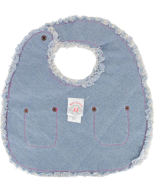 Kiddie Korral Infant-Girls S Paisley and Denim Bib