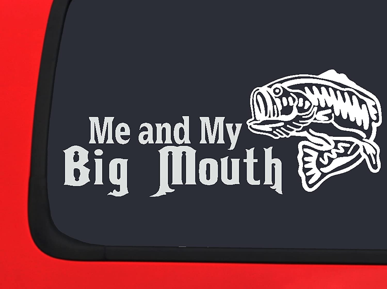 Lifestyle Graphix Me and My Big Mouth Bass Fishing Window Decal Sticker Boat Auto Vinyl